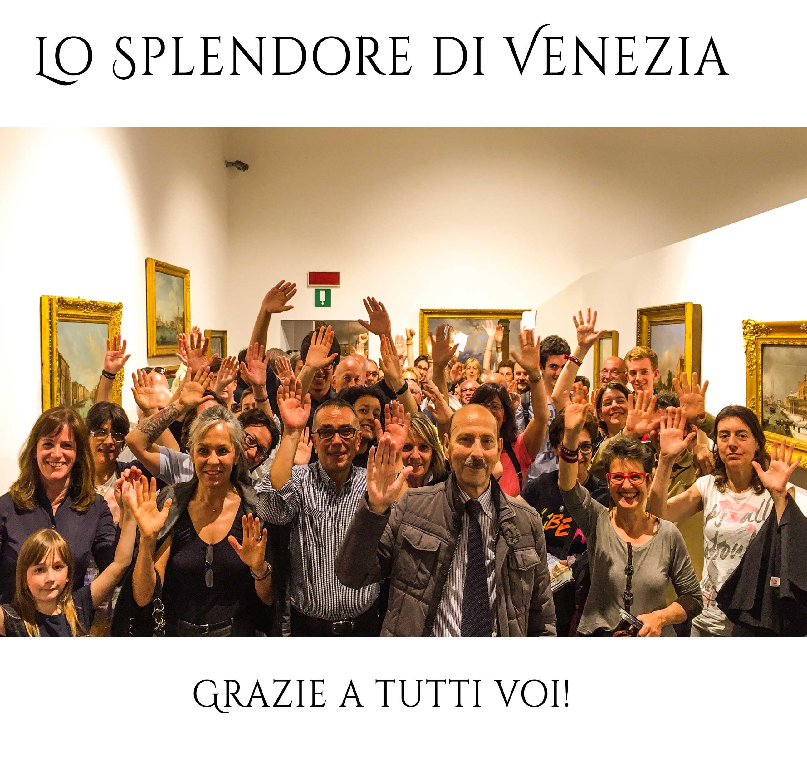 """GRAZIE A TUTTI I 40.717 VISITATORI DELLA MOSTRA """"LO SPLENDORE DI VENEZIA""""!!!"""